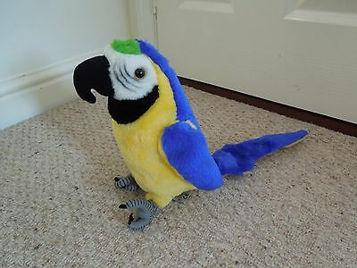 Animal Soft Toy Blue and Gold Macaw