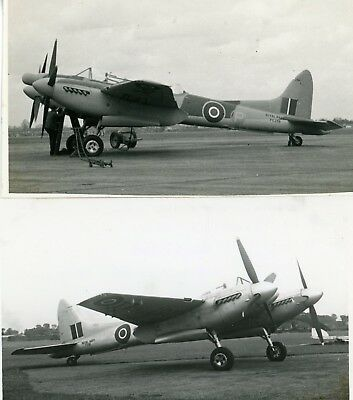 2 RARE ORIGINAL, PHOTO , ROYAL NAVY , DH SEA HORNETS , C 1950s