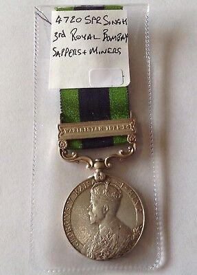IGS Waziristan 1921-1924 4720 Singh 3rd Royal Bombay Sappers & Miners Medal
