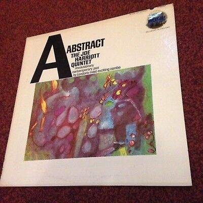 Joe Harriot Quintet Abstract Us Press Lp Mono T10351 Phil Seaman With Inner
