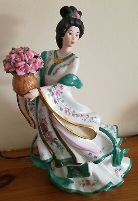 Collectable DANBURY MINT FIGURINE - THE ROSE PRINCESS BY LENA LIU - Porcelain