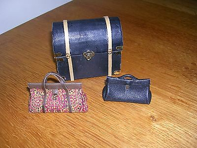 Dolls' House Handmade Trunk and Bags