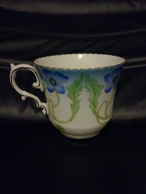 AYNSLEY Vintage/ANTIQUE CUP Blue Flowers