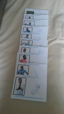 Coventry City Autographs 2017/18 x 21 (All Different) (1)