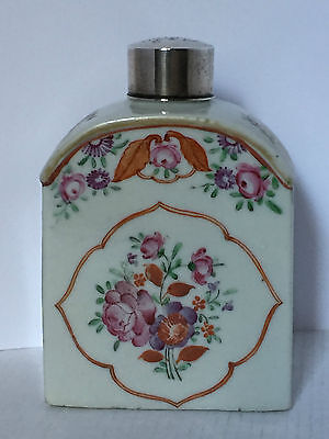 Famille Rose Chinese Tea Caddy c1780