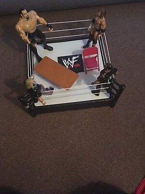 WWE Wrestling Ring by Mattel Including 4 Action Figures & Accessories
