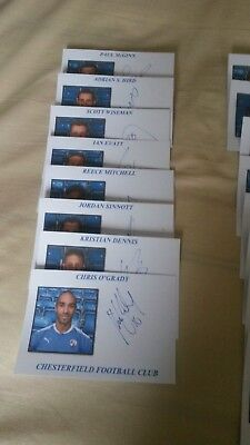 Chesterfield Autographs 2017/18 x 16 (All Different) (1)