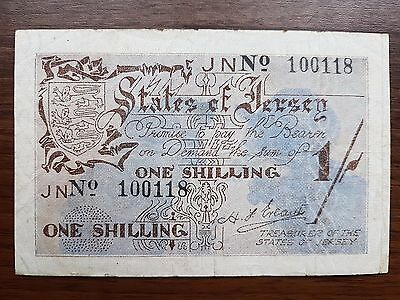 Jersey 1 shilling 1941 banknote