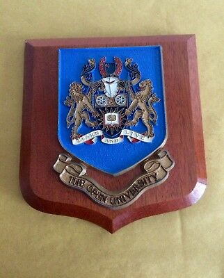 "The Open University Crest Shield Wall Plaque ""learn And Live """