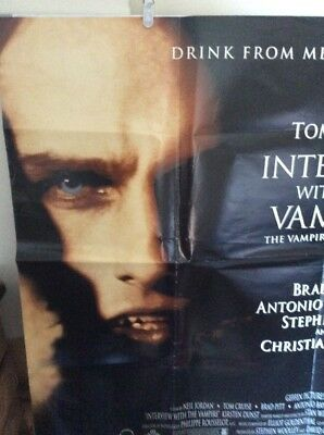 Original UK Quad Poster: INTERVIEW WITH A VAMPIRE