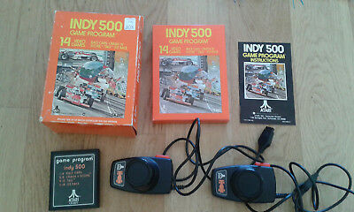 INDY 500-OVP(BIG BOX)-Atari 2600-Logo-Game 11-2 Driving Controller-Gatefold-1977
