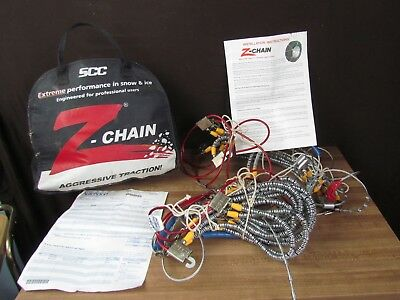 Set 2 Security Chain Co Z-Chain Z583 Snow & Ice Tire Chain W/case, Instructions