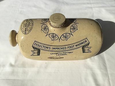 Vintage Doultons Improved Footwarmer From Lambeth Pottery London