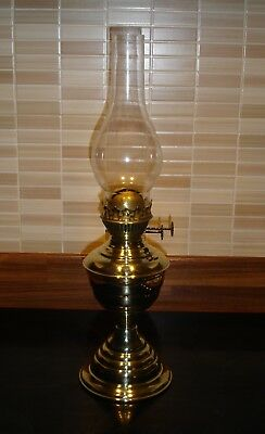 Beautiful Highly Polished Brass Oil Lamp