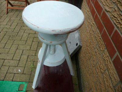 Wooden adjustable stool Shabby chic