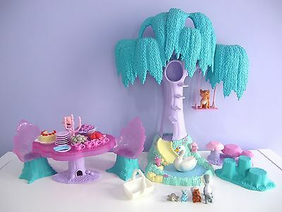 Barbie of Swan Lake Enchanted Forest Playset tree table vintage toy Mattel 2003