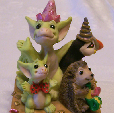 Pocket Dragons New MIB Party Time Hedgehog Penguin Celebration Ol Store Stock