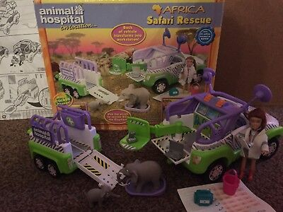 Animal Hospital Play Set Boxed Toy Africa Safari Rescue RSPCA Jeep Trailer