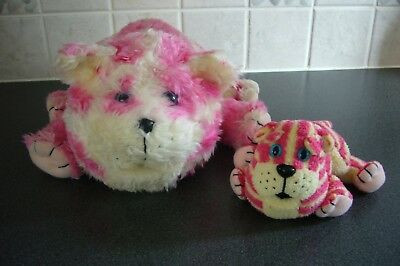 2 x Bagpuss soft toys - 1 large and 1 small - clean - VGC