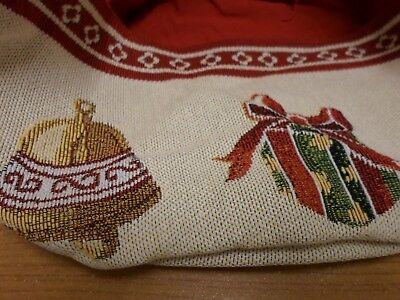 Gobelin embroidery Christmas basket unique