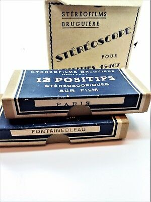 Very rare vintage Bruguiere Stereoscope with 24 positifs