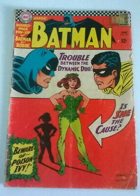 DC BATMAN KEY ISSUE No 181/1ST APP POISON IVY/FN-/VG+.