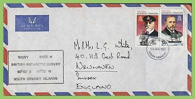 Br. Antarctic Territory 1981 5p & 6p on airmail BAT Survey cover to England