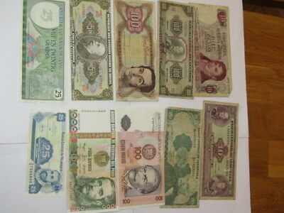 11 Banknotes from South America