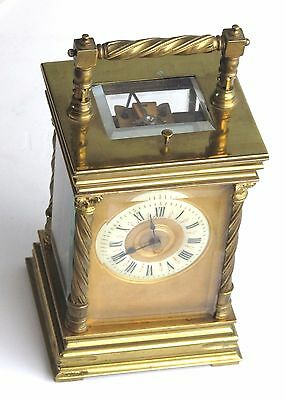 •A very fine repeting French Carriage Clock