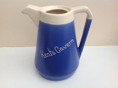 Devonmoor Pottery Coffee Pot No Lid with Kents Cavern on side
