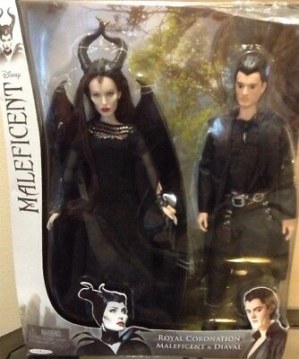 Disney Maleficent Royal Coronation & Diaval Dolls Angelina Jolie Jakks Pacific
