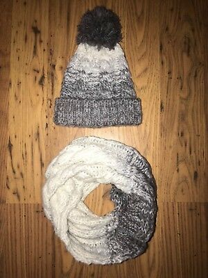 River island boys winter hat and snood scarf 4 years