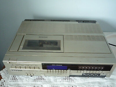 Sanyo Betamax video recorder VTC5150 with manual and tapes