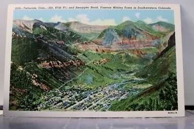 Colorado CO Telluride Smuggler Road Mining Town Postcard Old Vintage Card View
