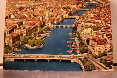 Switzerland Zurich Limmat Postcard Old Vintage Card View Standard Souvenir Post