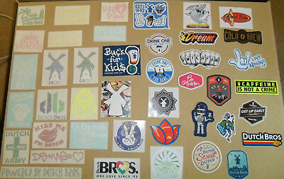 Dutch Bros Sticker Lot 75 Collectable Stickers and Decals