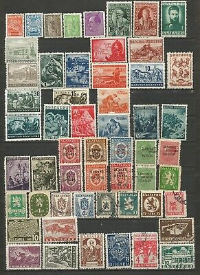 Bulgaria 1941-1949  Lote Mixto Mixed Lot (Mh/us)  (2 Scans)
