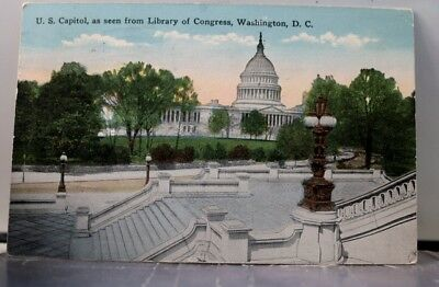 Washington DC Library of Congress US Capitol Postcard Old Vintage Card View Post