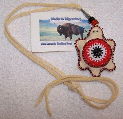 Hand Made Beaded Turtle Amulet Rendezvous Black Powder Mountain Man 04