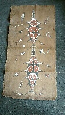 A Lake Sentani decorated barkcloth, maro, from West Papua, older