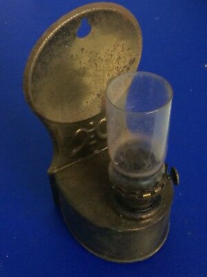 Vintage Small Metal Brass Coated Oil Lamp