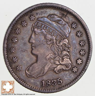 1835 Capped Bust Half Dime LM-8.1 R2+ Sd-LG 5 Veds Only 1 Rev DC-0-Rim *2747