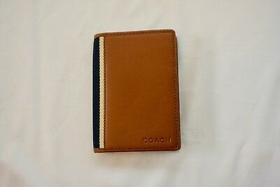 Coach Men's Passport Wallet Cognac/Blue