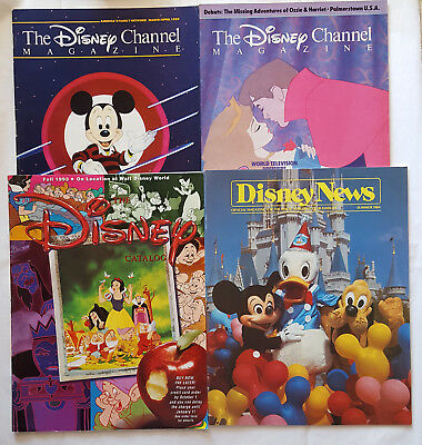 Lot of 4 Vintage Disney Magazines 1984-1993 / Sleeping Beauty Mickey Mouse Club