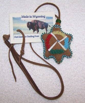 Hand Made Beaded Turtle Amulet Rendezvous Black Powder Mountain Man 05