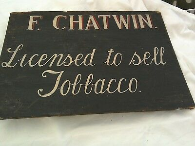 Vintage Wooden Wall Sign