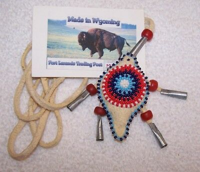 Hand Made Beaded Turtle Amulet Rendezvous Black Powder Mountain Man 06