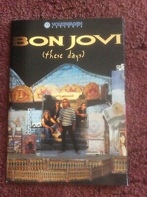 Bon Jovi (These Days) 1996 Tour Programme Brochure Sponsored By Volkswagen