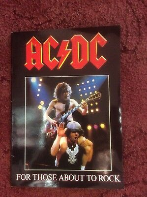 Ac/dc Ac / Dc For Those About To Rock 1982 Uk Tour Programme Brochure