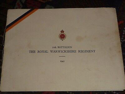 70th Battalion The Royal Warwickshire Regiment 1941 WWII Photographs Scarce Book